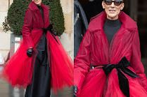 """""""Modna"""" Celine Dion ściąga na siebie uwagę w tiulowym płaszczu za 14 tysięcy"""