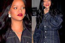 """Zrelaksowana Rihanna przywraca modę na """"podwójny dżins"""""""