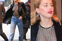 """Amber Heard świeci sutkami podczas promocji """"Aquamana"""""""