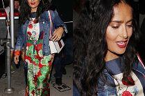Salma Hayek idzie z mężem na kolację w sukience Gucci za 15 tysięcy