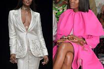 """Boska Naomi Campbell pokazuje """"jak to się robi"""" na fashion weeku w Nigerii"""