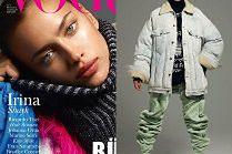 """Irina Shayk przymierza modne kurtki w sesji dla """"Vogue'a"""""""