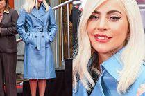 Skromna Lady Gaga w skórzanym trenczu za 8 tysięcy