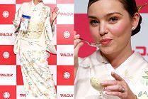 Dawno niewidziana Miranda Kerr delektuje się lodami na chałturze