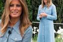 Melania i Donald Trump spędzają Wielkanoc w towarzystwie przerażających króliczków