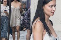 Adriana Lima zwiedza Paryż bez stanika