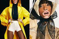 """Modelka z bielactwem rozchyla usta w deszczowej sesji dla """"Elle"""""""