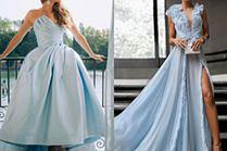 Jakie niebieskie sukienki wieczorowe wybierają gwiazdy?