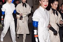"""Stylowe"" siostry Hadid zmierzają na after party Louis Vuitton"