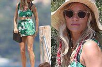Zadowolona Sienna Miller spaceruje z przyjaciółmi po Saint-Tropez