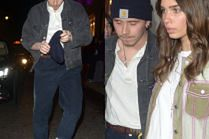 Zmizerniały Brooklyn Beckham z sympatią wymykają się z imprezy