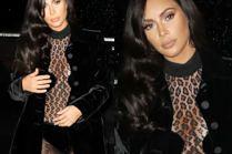Kim Kardashian eksponuje silikonowy biust w przezroczystym kombinezonie