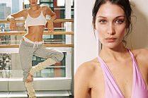 Rozebrana Bella Hadid udaje wyzwoloną baletnicę...