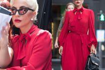 Dystyngowana Lady Gaga i jej sterczące sutki przemierzają Paryż
