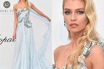 Cannes 2019: Była dziewczyna Kristen Stewart wymachuje suknią na gali amfAR