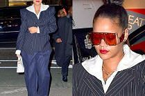 """""""Stylowa"""" Rihanna powraca w czerwonych okularach na pół twarzy"""