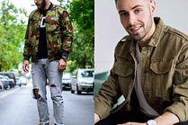 Modne militarne kurtki - 5 propozycji celebrytów