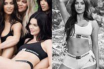 Kim Kardashian i jej rozebrane siostry razem w kampanii Calvina Kleina