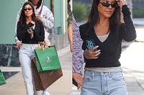 Szczęśliwa Kourtney Kardashian na zakupach z 20-letnim kochankiem