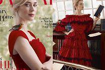 """Olśniewająca Emily Blunt pozuje z ptaszkiem w bajkowej sesji dla """"Harper's Bazaar"""""""
