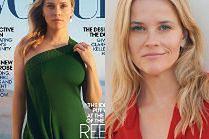 """Naturalna Reese Witherspoon spogląda z okładki amerykańskiego """"Vogue'a"""""""