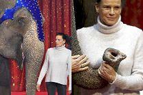 Księżniczka Stefania znowu pozuje z trąbą słonia...