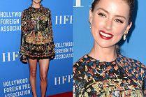 Amber Heard eksponuje nogi w kusej sukience Saint Laurent