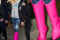 Wyluzowana Gwen Stefani lansuje modę na kalosze na obcasie