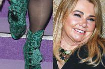 Szczupła Katarzyna Niezgoda chwali się botkami za 5 tysięcy złotych