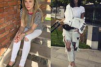 Białe spodnie z dziurami – letni hit wśród celebrytek