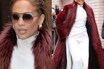 Zmoczona Lopez sprząta ulice Nowego Jorku białymi nogawkami