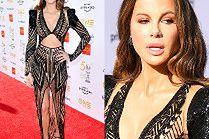 Kate Beckinsale prowokuje w prześwitującej sukience za 64 tysiące złotych