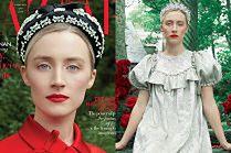 """Szlachetna Saoirse Ronan spogląda z okładki """"Harper's Bazaar"""""""