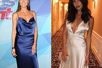 Satynowa sukienka na ramiączkach - jakie wybierają gwiazdy?