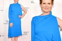 """Chabrowa Cynthia Nixon z """"Seksu w wielkim mieście"""" promuje nowy film na festiwalu Tribeca"""