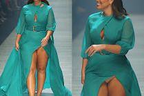 Ashley Graham pokazała majtki na australijskim wybiegu