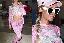 Infantylna Paris Hilton urządziła sobie sesję na lotnisku...