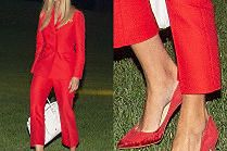 Elegancka Ivanka Trump dziobie drogimi szpilkami w trawniku