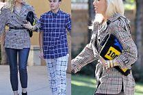 Modna Gwen Stefani biegnie do kościoła w płaszczyku za 80 złotych