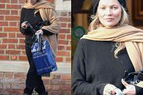 Kate Moss rozgląda się za antykami z turbanem na głowie