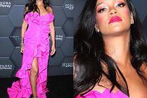 Neonowa Rihanna cieszy się z urodzin kosmetyków