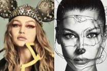 """Siostry Hadid przebierają się za Myszkę Miki na okładach """"Chaos Magazine"""""""