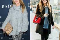 Szary sweter – z czym noszą go celebrytki?