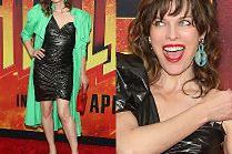 Milla Jovovich odsłania nogi w foliowej sukience od Isabel Marant