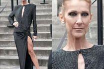 Wychudzona Celine Dion pozuje dramatycznie na paryskich schodach