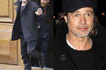 Dojrzały Brad Pitt zmierza na spotkanie biznesowe w Paryżu