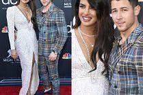 Zakochani Priyanka Chopra i Nick Jonas pozdrawiają ze ścianki w Las Vegas