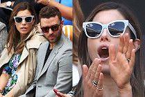Justin Timberlake i Jessica Biel bawią się na Wimbledonie