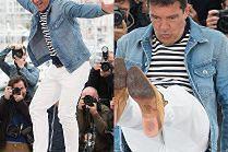Cannes 2019: 58-letni Antonio Banderas popisuje się przed fotografami