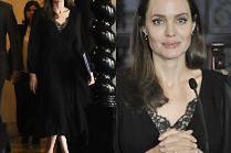Angelina Jolie niesie pomoc uchodźcom w skromnej sukience